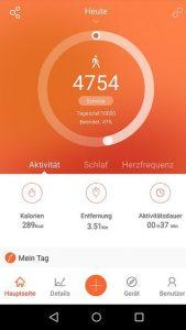 Screenshot Vifitpro App Startbildschirm Android App